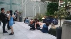 Les visiteurs ont pu profiter de la cour de l'hôtel particulier